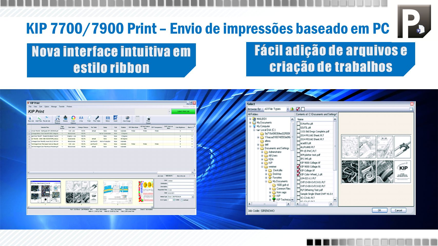 KIP 7700/7900 Print – Envio de impressões baseado em PC