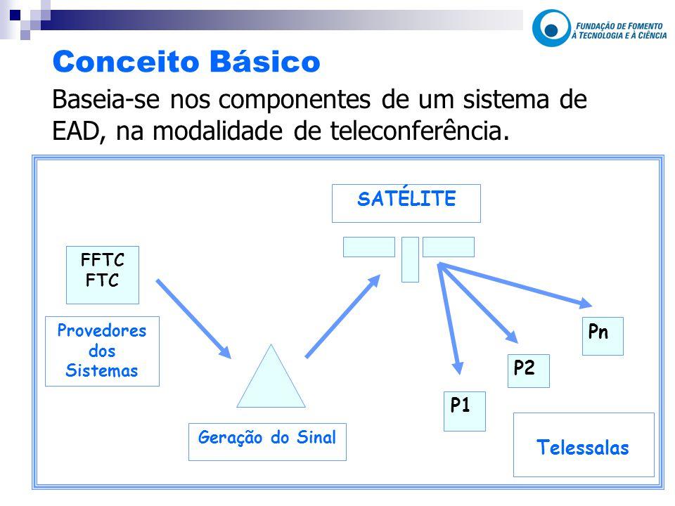 Conceito Básico Baseia-se nos componentes de um sistema de EAD, na modalidade de teleconferência.