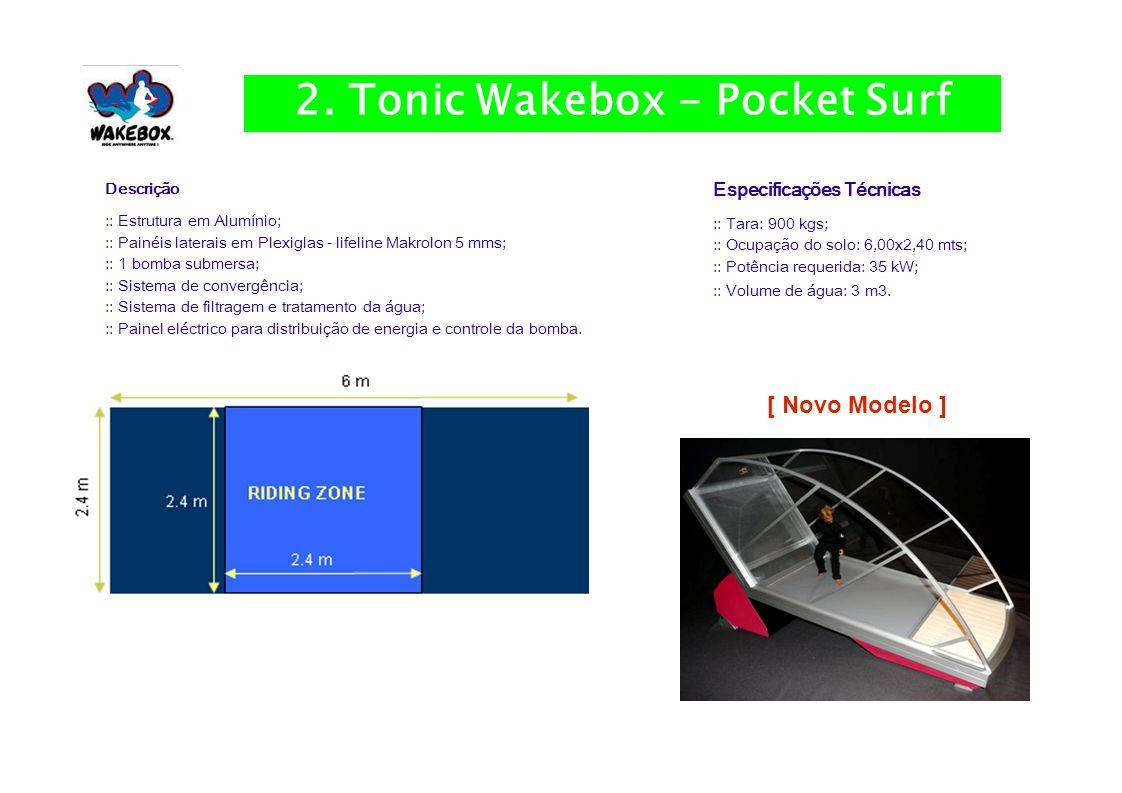 Especificações Técnicas :: Tara: 900 kgs; :: Ocupação do solo: 6,00x2,40 mts; :: Potência requerida: 35 kW; :: Volume de água: 3 m3.