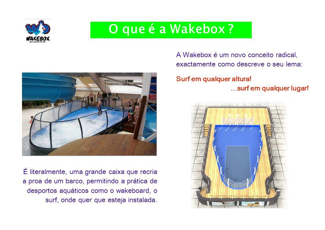 3 A Wakebox é um novo conceito radical, exactamente como descreve o seu lema: Surf em qualquer altura!...surf em qualquer lugar.