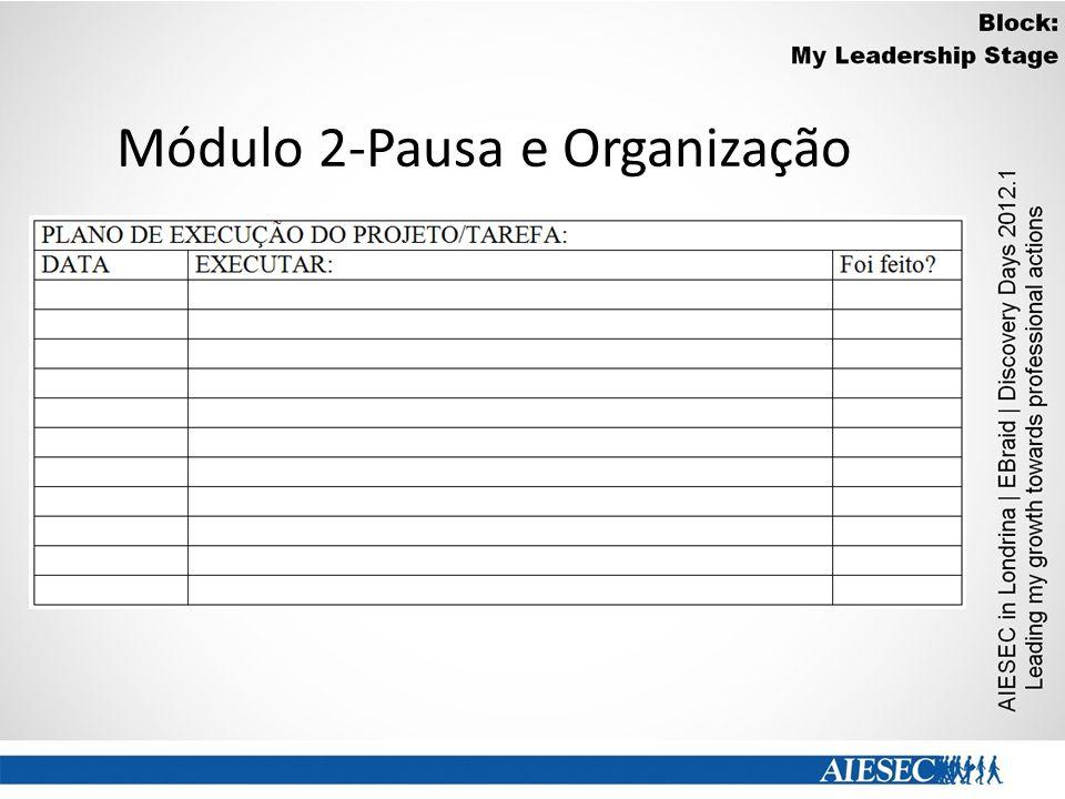 Módulo 2-Pausa e Organização