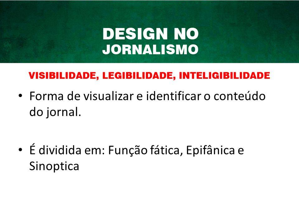 Forma de visualizar e identificar o conteúdo do jornal.