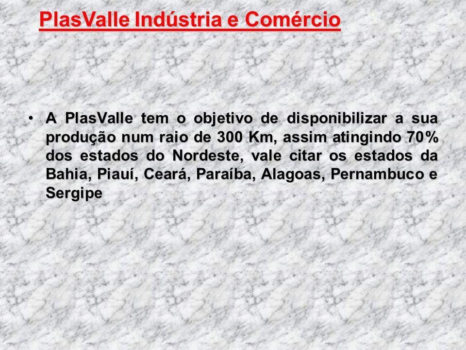 A PlasValle tem o objetivo de disponibilizar a sua produção num raio de 300 Km, assim atingindo 70% dos estados do Nordeste, vale citar os estados da