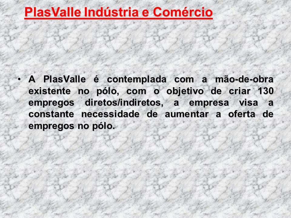 A PlasValle é contemplada com a mão-de-obra existente no pólo, com o objetivo de criar 130 empregos diretos/indiretos, a empresa visa a constante nece