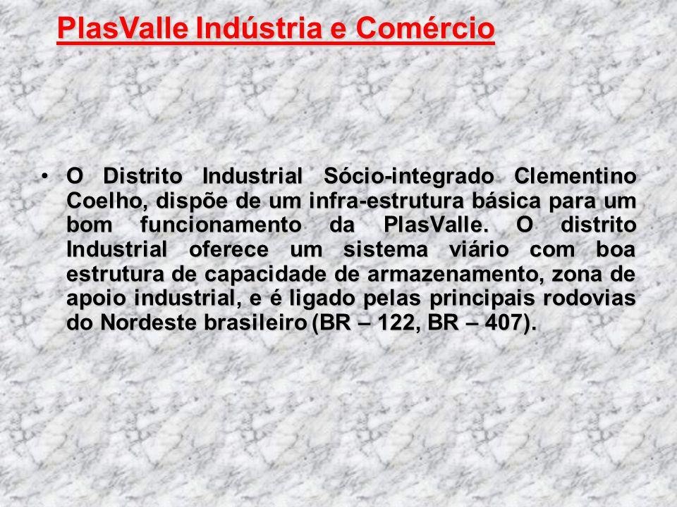 O Distrito Industrial Sócio-integrado Clementino Coelho, dispõe de um infra-estrutura básica para um bom funcionamento da PlasValle. O distrito Indust
