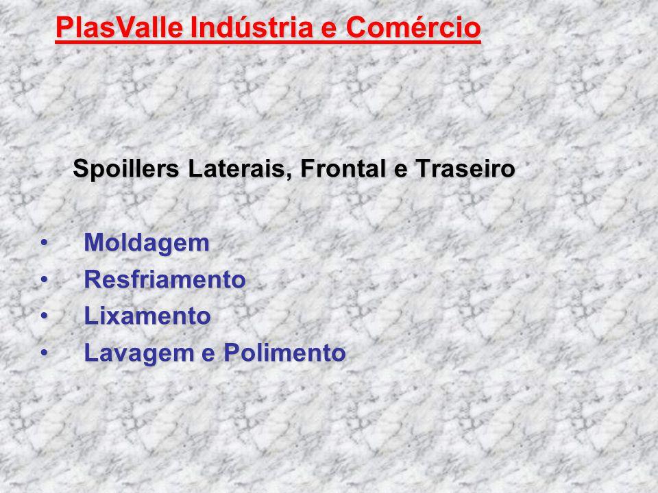 Spoillers Laterais, Frontal e Traseiro MoldagemMoldagem ResfriamentoResfriamento LixamentoLixamento Lavagem e PolimentoLavagem e Polimento PlasValle I