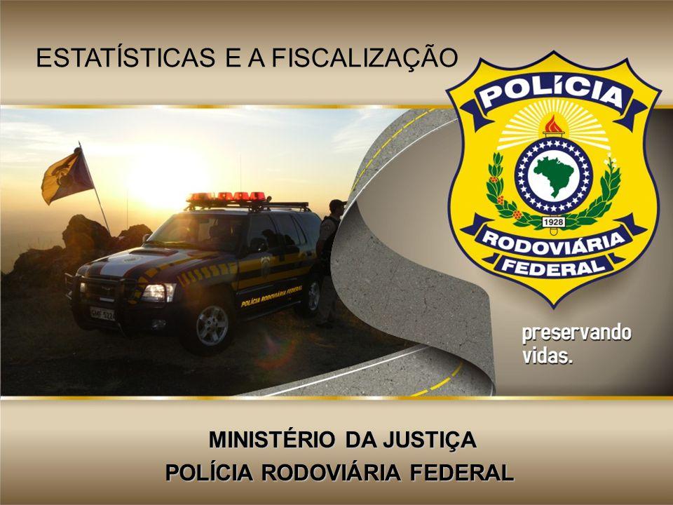 MINISTÉRIO DA JUSTIÇA MINISTÉRIO DA JUSTIÇA POLÍCIA RODOVIÁRIA FEDERAL ESTATÍSTICAS E A FISCALIZAÇÃO