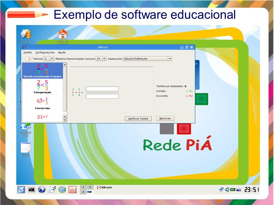 Clique para editar o estilo do título mestre Clique para editar os estilos do texto mestre Segundo nível Terceiro nível Quarto nível Quinto nível 18 Exemplo de software educacional