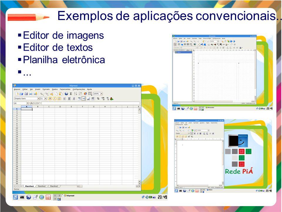 Clique para editar o estilo do título mestre Clique para editar os estilos do texto mestre Segundo nível Terceiro nível Quarto nível Quinto nível 19  Editor de imagens  Editor de textos  Planilha eletrônica ...