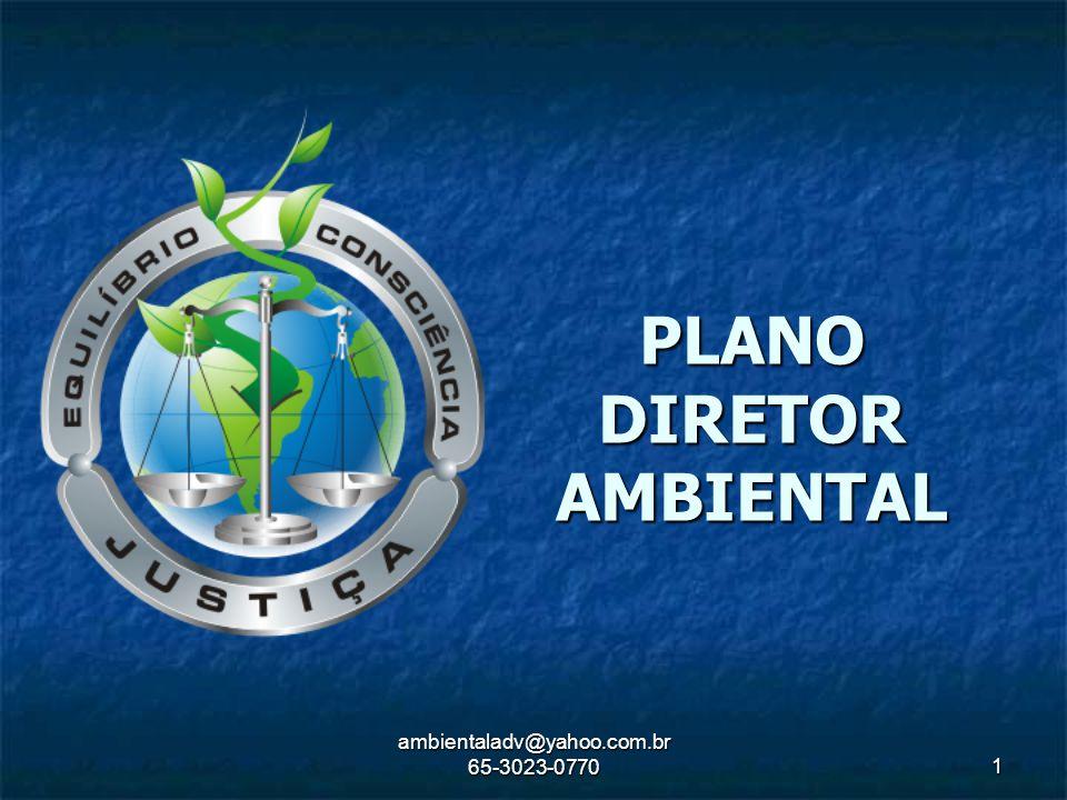 ambientaladv@yahoo.com.br 65-3023-0770 1 PLANO DIRETOR AMBIENTAL