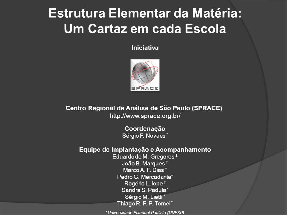 Estrutura Elementar da Matéria: Um Cartaz em cada Escola Iniciativa Centro Regional de Análise de São Paulo (SPRACE) http://www.sprace.org.br/ Coorden