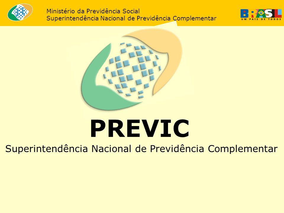 Ministério da Previdência Social Superintendência Nacional de Previdência Complementar PREVIC Superintendência Nacional de Previdência Complementar