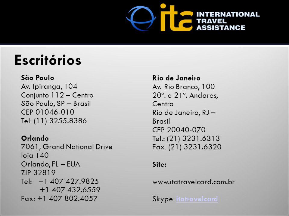 São Paulo Av. Ipiranga, 104 Conjunto 112 – Centro São Paulo, SP – Brasil CEP 01046-010 Tel: (11) 3255.8386 Orlando 7061, Grand National Drive loja 140