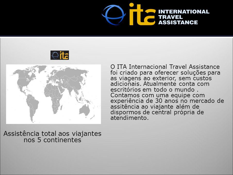 O ITA Internacional Travel Assistance foi criado para oferecer soluções para as viagens ao exterior, sem custos adicionais. Atualmente conta com escri
