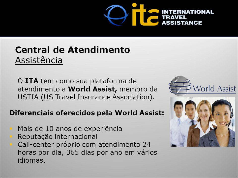 O ITA tem como sua plataforma de atendimento a World Assist, membro da USTIA (US Travel Insurance Association). Diferenciais oferecidos pela World Ass