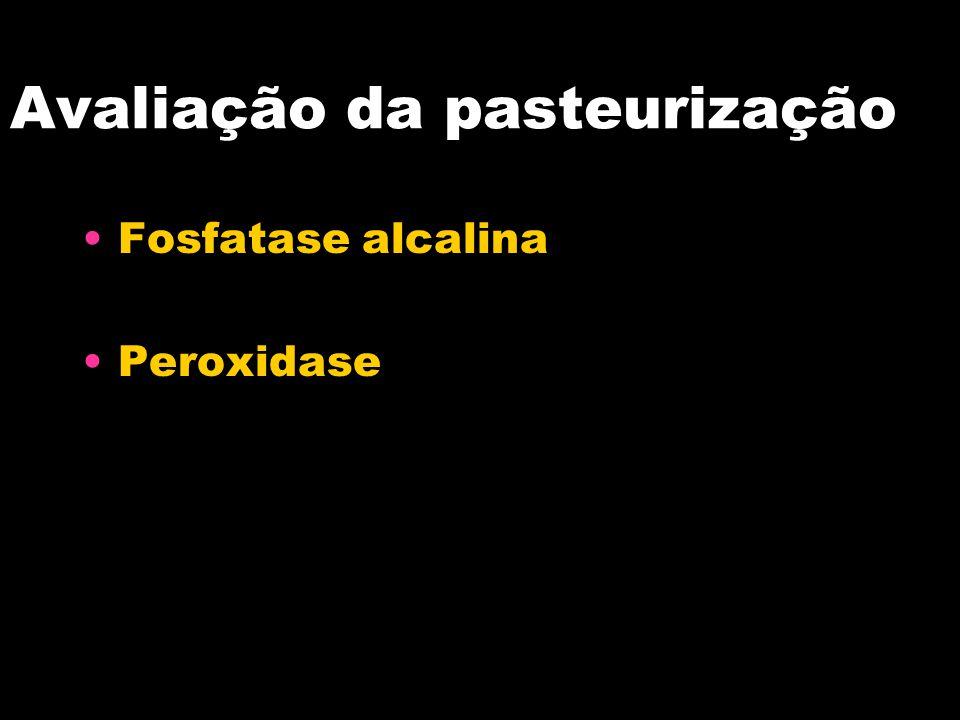 Avaliação da pasteurização Fosfatase alcalina Peroxidase