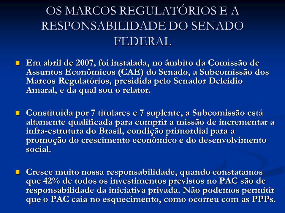 5.3) O primeiro passo para garantir maior segurança jurídica é a aprovação pela Câmara dos Deputados e, em seguida pelo Senado Federal, do marco regulatório das Agências Reguladoras, que garantirá a independência e a autonomia da Aneel.