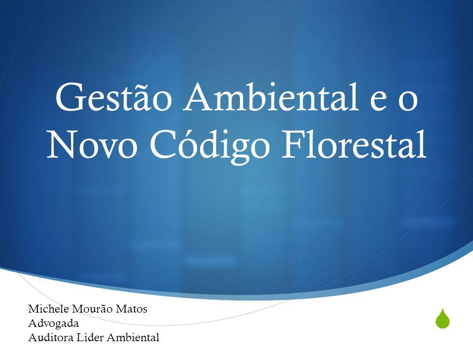  Gestão Ambiental e o Novo Código Florestal Michele Mourão Matos Advogada Auditora Líder Ambiental
