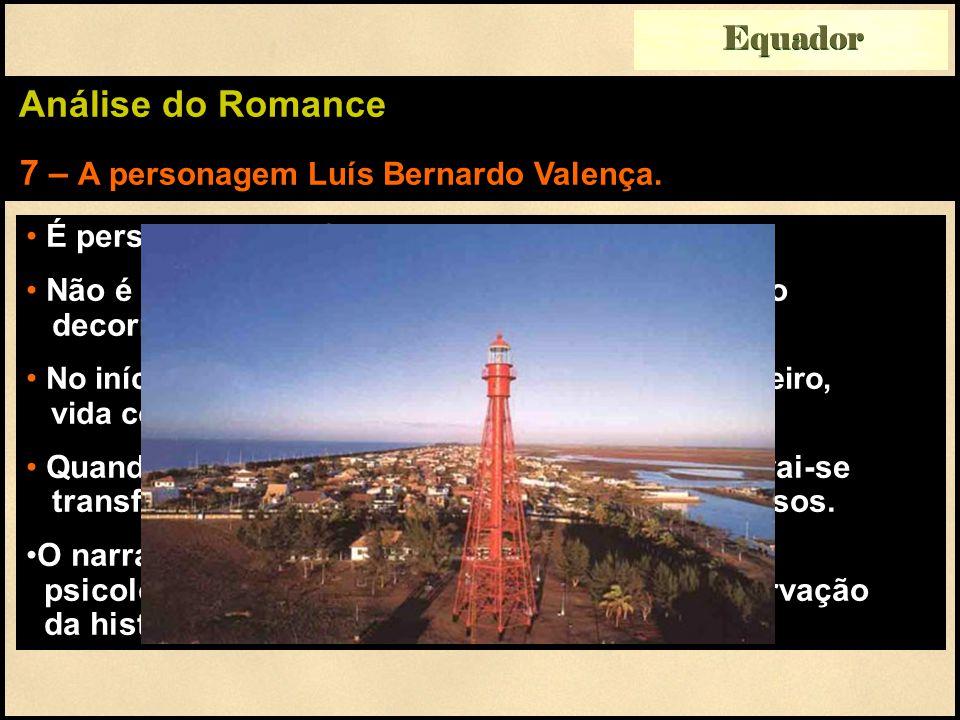 Equador Análise do Romance 7 – A personagem Luís Bernardo Valença.