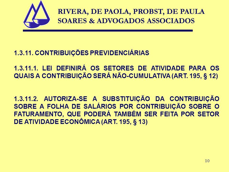 10 1.3.11. CONTRIBUIÇÕES PREVIDENCIÁRIAS 1.3.11.1.