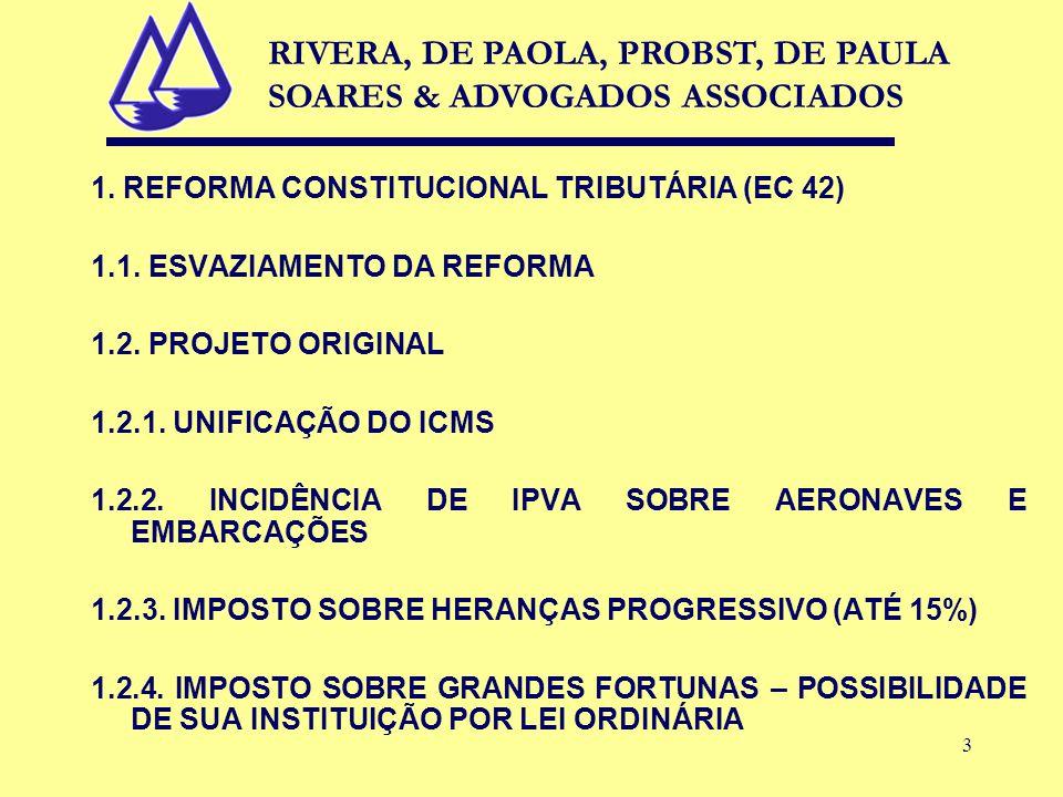 3 1. REFORMA CONSTITUCIONAL TRIBUTÁRIA (EC 42) 1.1.