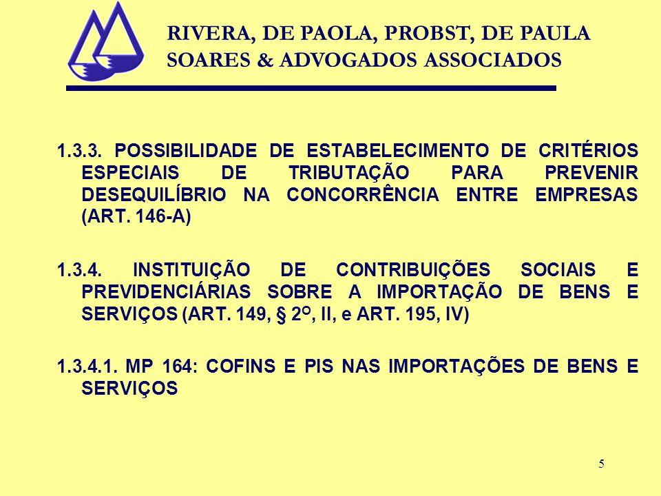 5 1.3.3. POSSIBILIDADE DE ESTABELECIMENTO DE CRITÉRIOS ESPECIAIS DE TRIBUTAÇÃO PARA PREVENIR DESEQUILÍBRIO NA CONCORRÊNCIA ENTRE EMPRESAS (ART. 146-A)