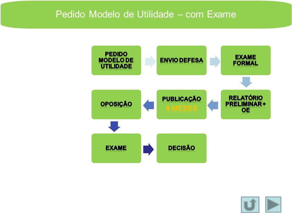 Pedido de Modelo de Utilidade Os modelos de utilidade apresentam alguns aspectos diferentes das patentes: 1. Não é possível proteger invenções que inc