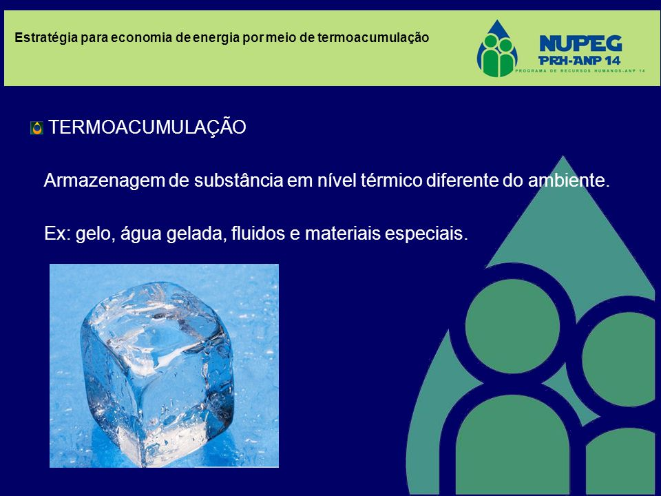 TERMOACUMULAÇÃO Armazenagem de substância em nível térmico diferente do ambiente.