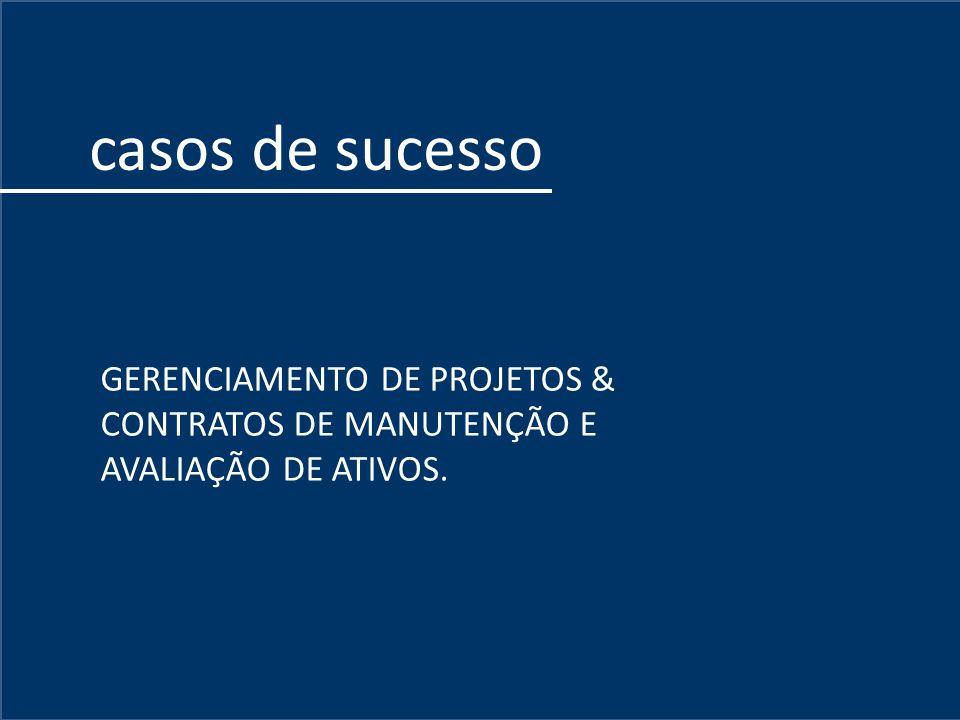 Inicio GERENCIAMENTO DE PROJETOS & CONTRATOS DE MANUTENÇÃO E AVALIAÇÃO DE ATIVOS. casos de sucesso