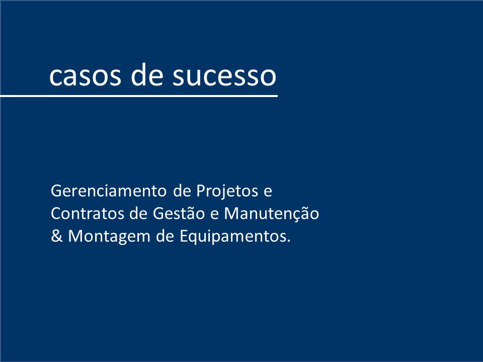Inicio Gerenciamento de Projetos e Contratos de Gestão e Manutenção & Montagem de Equipamentos.