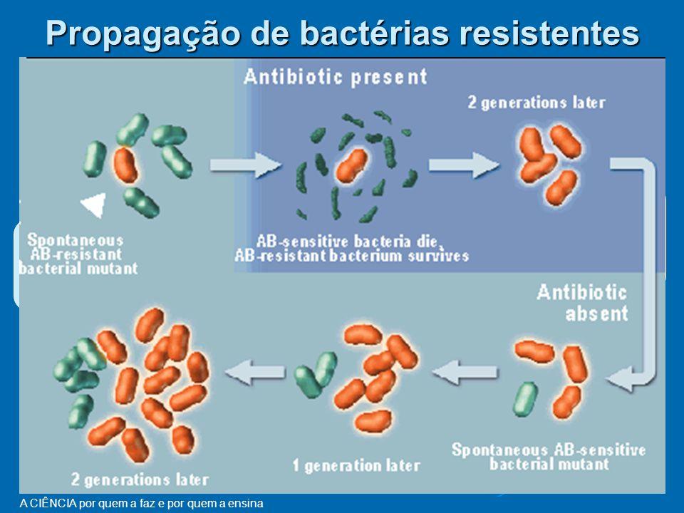 A CIÊNCIA por quem a faz e por quem a ensina Antibióticos entram no corpo humano matam quase todas as bactérias, mas algumas resistem e ficam activas....