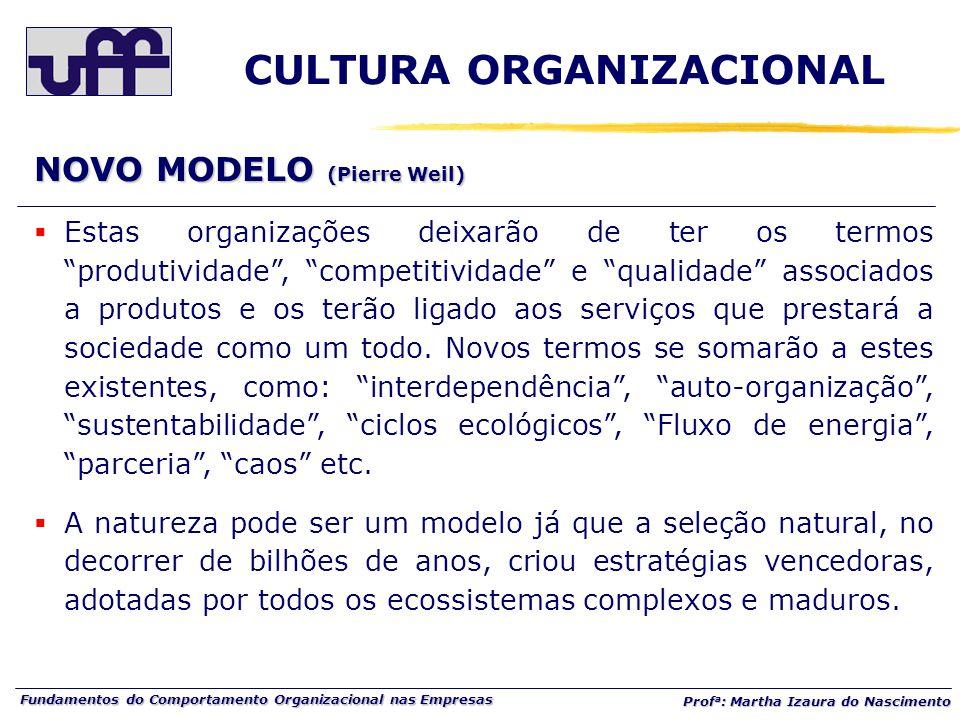 """Fundamentos do Comportamento Organizacional nas Empresas Prof a : Martha Izaura do Nascimento  Estas organizações deixarão de ter os termos """"produtiv"""