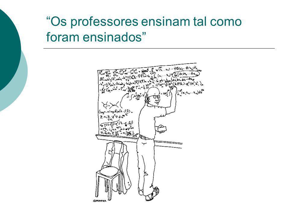 Os professores ensinam tal como foram ensinados