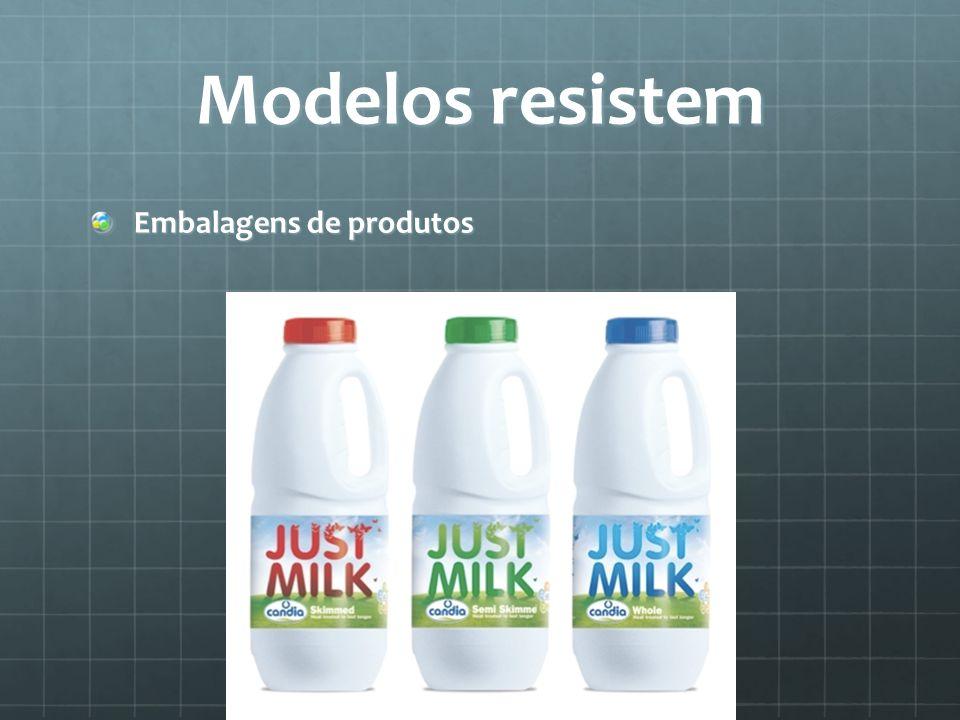 Modelos resistem Embalagens de produtos