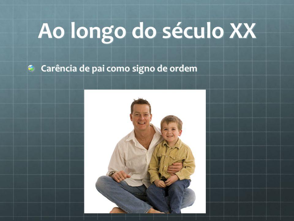 Ao longo do século XX Carência de pai como signo de ordem