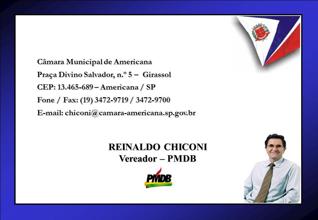 Câmara Municipal de Americana Praça Divino Salvador, n.º 5 – Girassol CEP: 13.465-689 – Americana / SP Fone / Fax: (19) 3472-9719 / 3472-9700 E-mail: