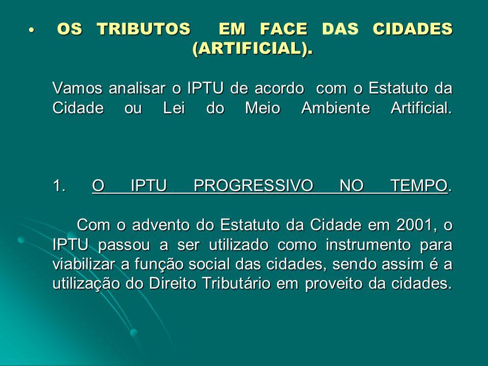 7.O ASPECTO QUANTITATIVO DA HIPÓTESE DE INCIDÊNCIA (FATO GERADOR) DO IPTU.