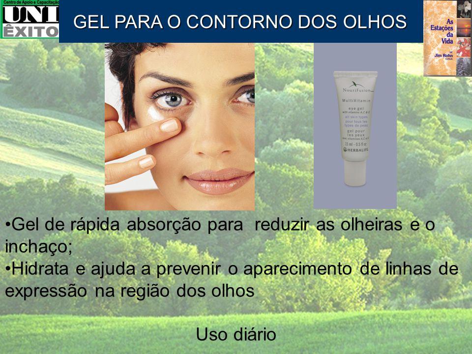 Gel de rápida absorção para reduzir as olheiras e o inchaço; Hidrata e ajuda a prevenir o aparecimento de linhas de expressão na região dos olhos Uso