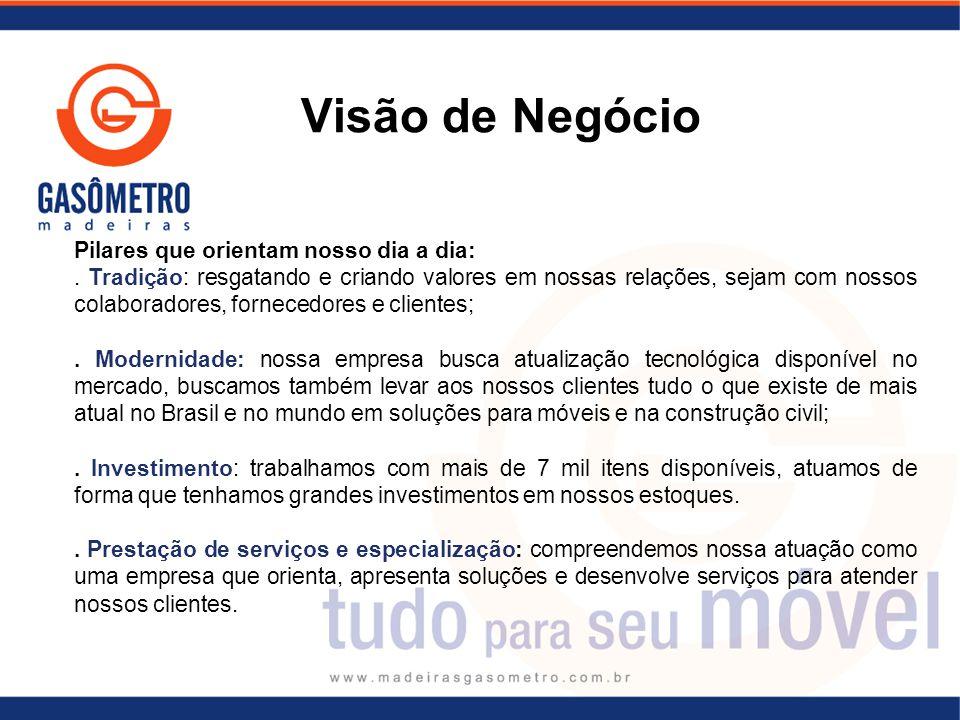 Visão de Negócio Pilares que orientam nosso dia a dia:.