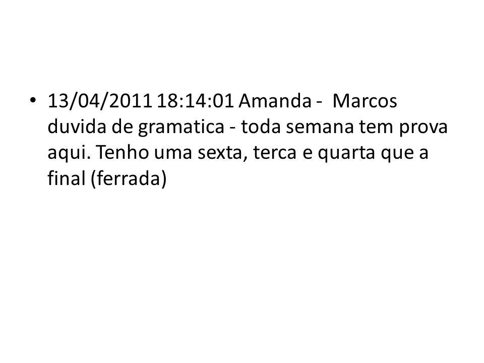 13/04/2011 19:05:39 Amanda - a familia.