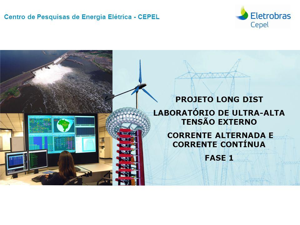 Centro de Pesquisas de Energia Elétrica - CEPELNome do Evento   Mês Ano Laboratório de UAT Externo FASE 1 – Detalhamento dos ensaios Ensaio de impulso atmosférico em configuração de gap longo.