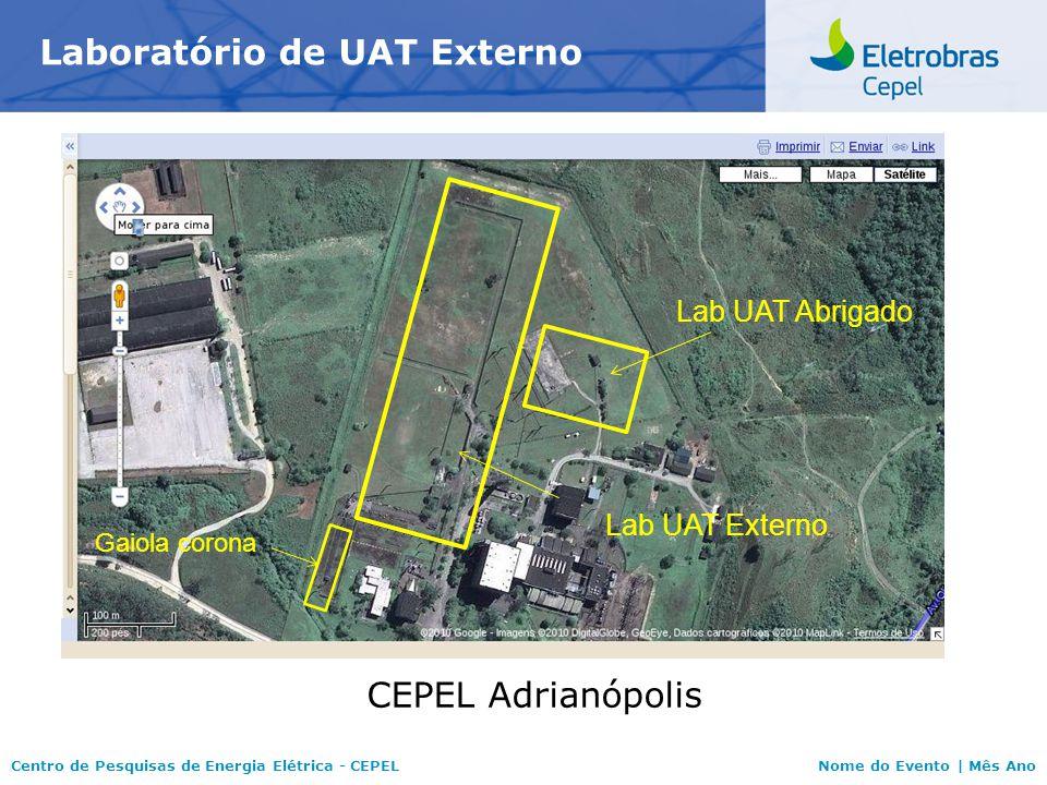 Centro de Pesquisas de Energia Elétrica - CEPELNome do Evento | Mês Ano Laboratório de UAT Externo CEPEL Adrianópolis Lab UAT Abrigado Gaiola corona L