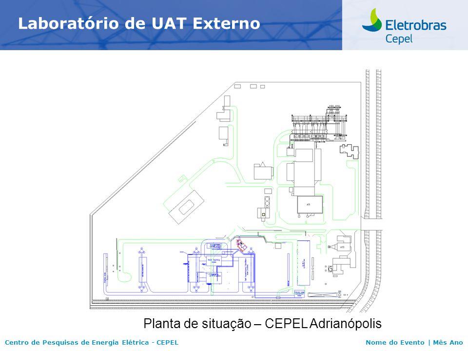 Centro de Pesquisas de Energia Elétrica - CEPELNome do Evento | Mês Ano Laboratório de UAT Externo Planta de situação – CEPEL Adrianópolis