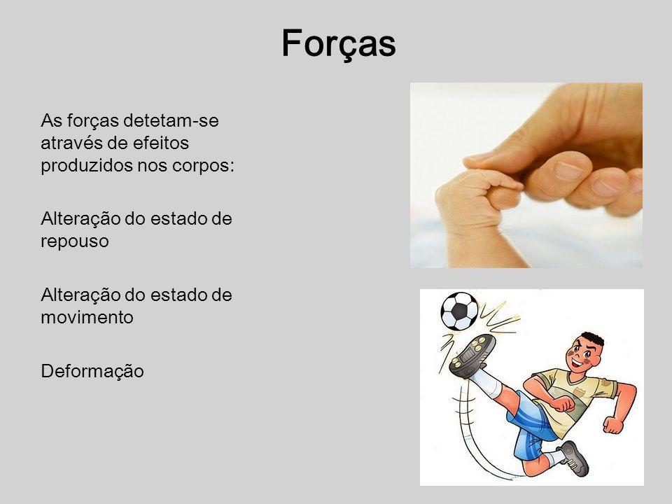 Definição: Força é toda a causa capaz de modificar o estado de movimento ou repouso de um corpo ou de o deformar.