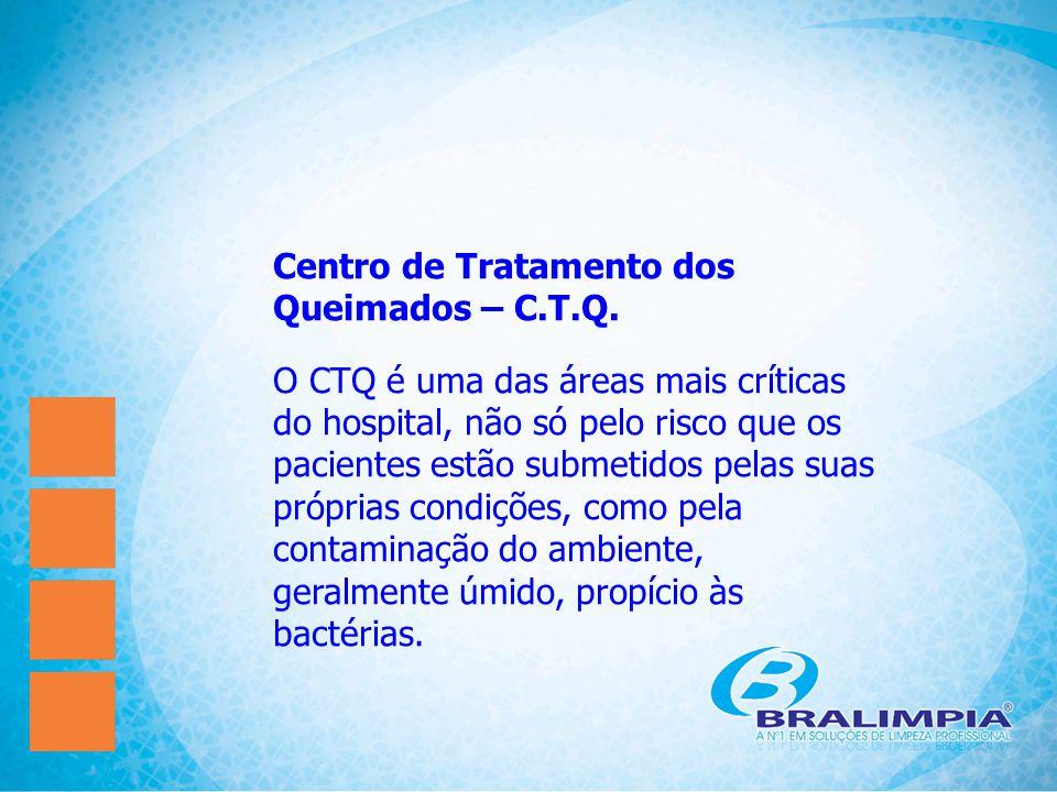 Centro de Tratamento dos Queimados – C.T.Q. O CTQ é uma das áreas mais críticas do hospital, não só pelo risco que os pacientes estão submetidos pelas