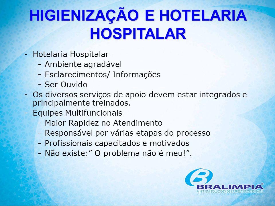-Hotelaria Hospitalar -Ambiente agradável -Esclarecimentos/ Informações -Ser Ouvido -Os diversos serviços de apoio devem estar integrados e principalm
