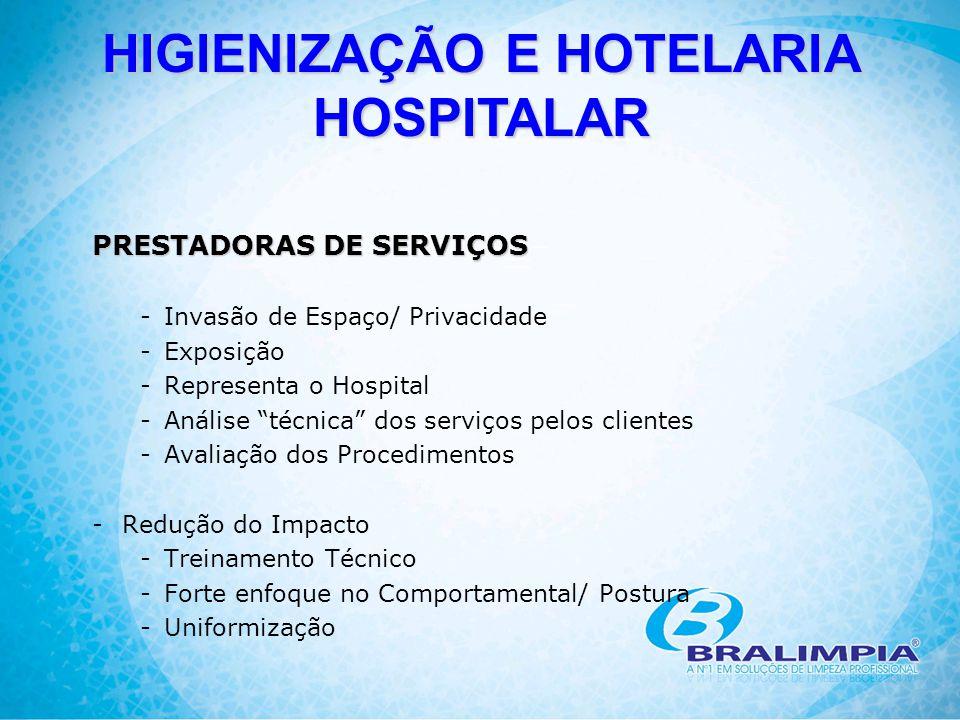 """PRESTADORAS DE SERVIÇOS -Invasão de Espaço/ Privacidade -Exposição -Representa o Hospital -Análise """"técnica"""" dos serviços pelos clientes -Avaliação do"""