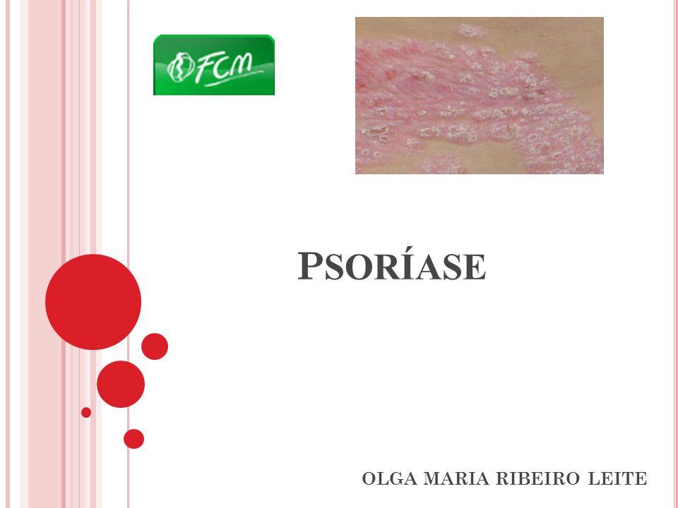 P SORÍASE CONCEITO Doença inflamatória crônica de pele e articulações, imuno-mediada, de base genética, com grande polimorfismo de expressão clínica e caracterizada por hiperplasia da epiderme, isomofismo e cárater recidivante.