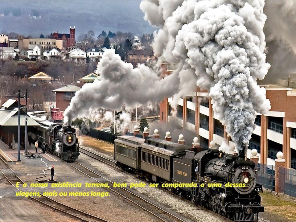 Você já andou de trem alguma vez? Numa viagem de trem podemos notar uma grande diversidade de situações, ao longo do percurso.
