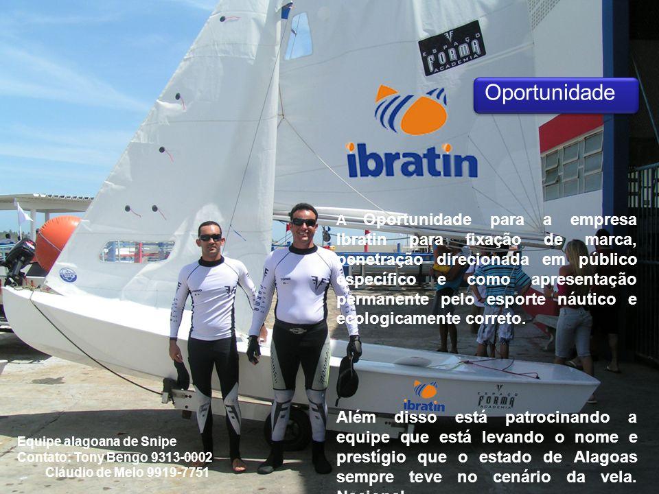 A Oportunidade para a empresa Ibratin para fixação de marca, penetração direcionada em público específico e como apresentação permanente pelo esporte